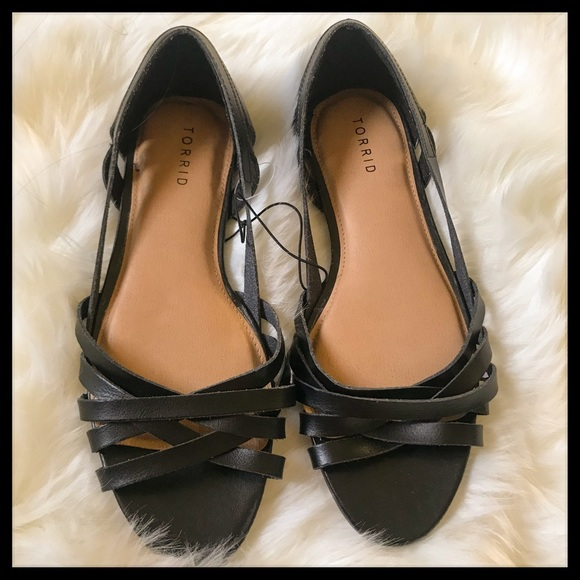 d4a61b6625a4 NWT Strappy Peep Toe D Orsay Flats (Wide Width)